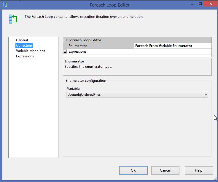 5_ForEachLoop container Choosing Enumerator