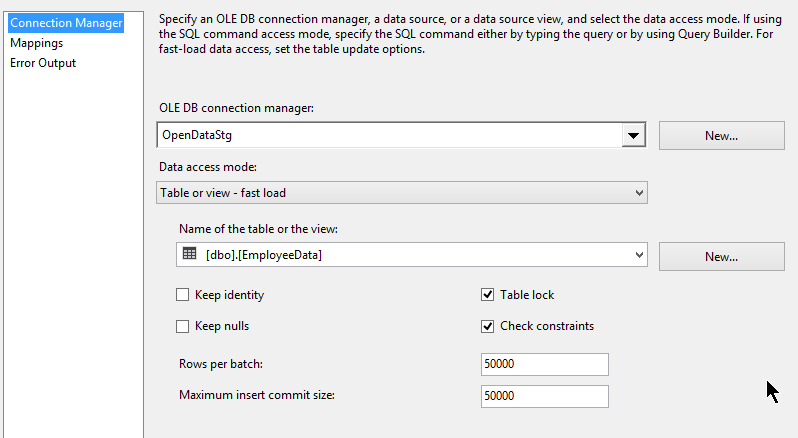 7_1M_SQLDestinationLoad_Package_OLEDST_Setting