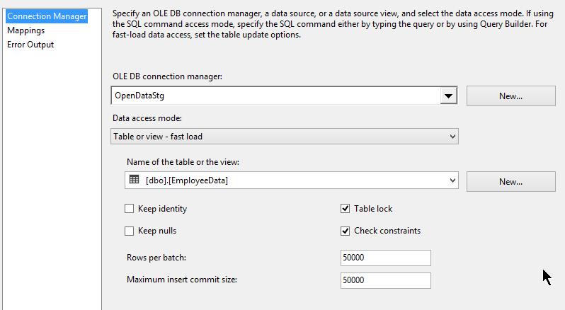 7_1M_SQLDestinationLoad_Package_OLEDST_Setting