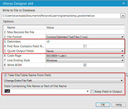 Running dynamic Powershell script using Alteryx – Karthik's BI Musings